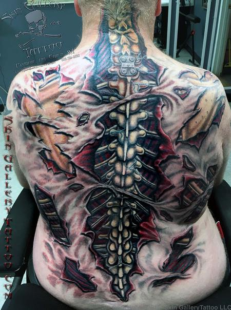 Brent Severson - Ripped Skin Color Backpiece