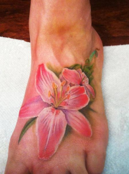Tattoos - Realistic flower - 84316