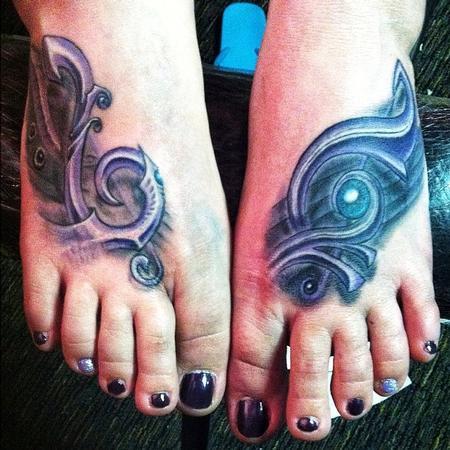 Tattoos - Bio Feet music abstract - 84317