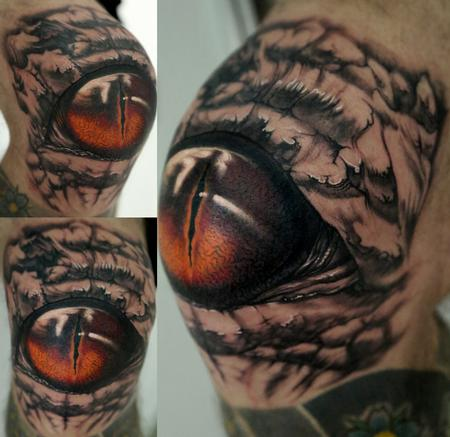 Tattoos - Knee Eye - 102186