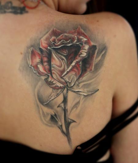 Tattoos - Healed Rose - 72682