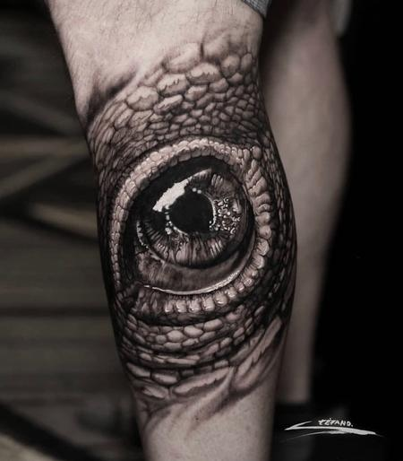 Tattoos - REALISTIC REPTILE EYE - 140175
