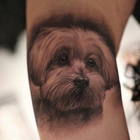 Tattoos - Memorial Dog Portrait - 77125