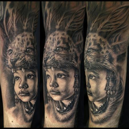 Tattoos - Son as a Aztec Warrior - 75124