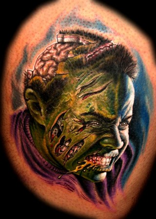 Tattoos - Zombie-fied portrait - 33946