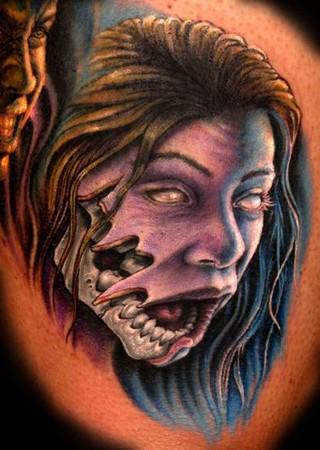Tattoos - Zombie-fied Sister portrait - 33971