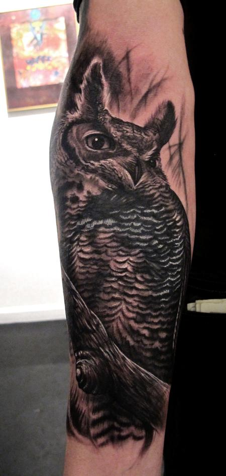 Tattoos - OWL Cover up - 61000