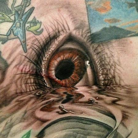 Tattoos - Eye in water - 73886