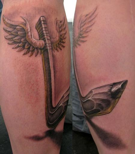 Tattoos - Hockey pencil - 54823