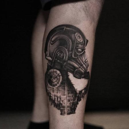 Imperial Tie Fighter Pilot Tattoo Design Thumbnail