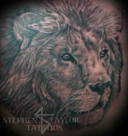 Stephen Taylor - lion on right side of chest.