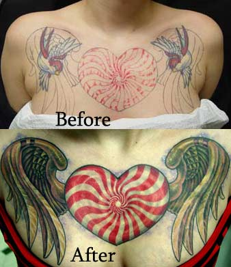 Tattoos - Candy Swirl Heart - 14937