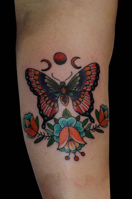 Trevor Aarsvold--Guest Artist - Butterfly tattoo