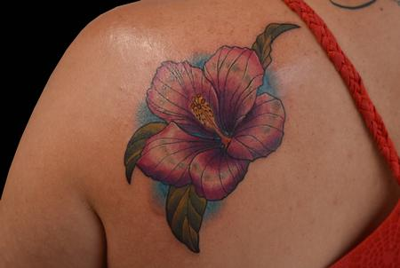 Trevor Aarsvold--Guest Artist - Hibiscus Flower Tattoo