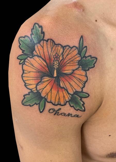 Tattoos - Hibiscus Ohana - 139765