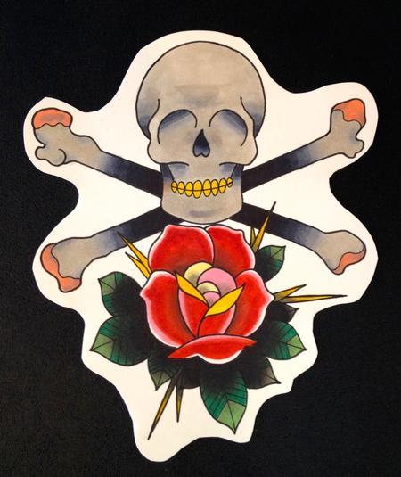 Adam Considine - Rose Skull & Cross Bones