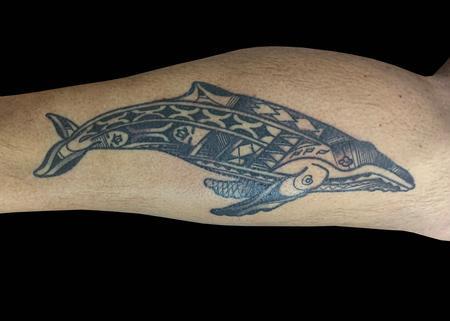 Tattoos - Polynesian Whale - 139783