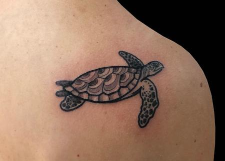Tattoos - Turtle- Black & Gray - 139776