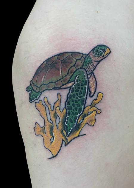 Tattoos - Turtle & Coral - 139778