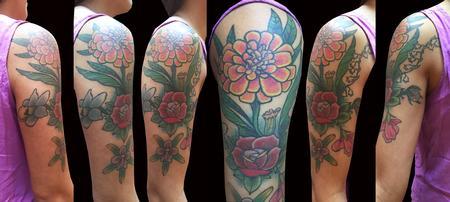 Adam Considine - Flower Half-Sleeve