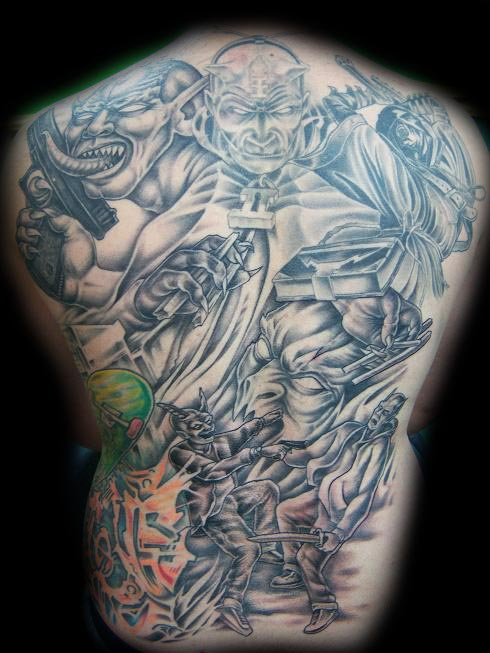 Tattoos - Evil Back Piece - 26200
