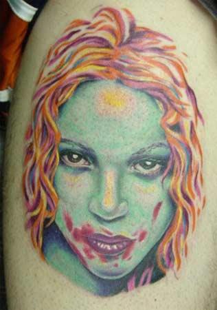 Tattoos - Zombie Girl - 20936