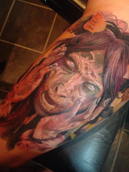Tattoos - Demonic goat-girl tattoo  - 91648
