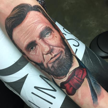 Tattoos - Abraham Lincoln Tattoo - 104528