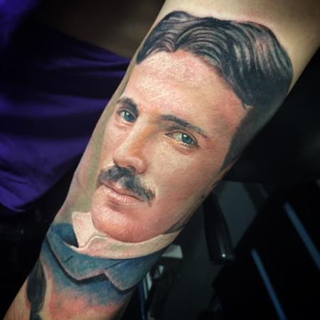 Tattoos - Nikola Tesla Tattoo - 104535