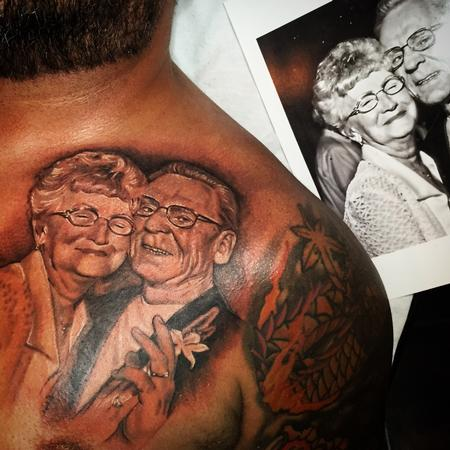 Tattoos - Wedding Photo Memorial Tattoo  - 108669