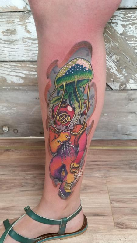 Tattoos - Scuba jelly - 122325