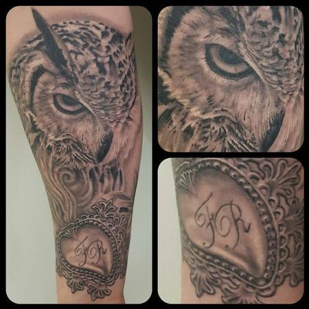 George Scharfenberg  - Owl and exvoto heart