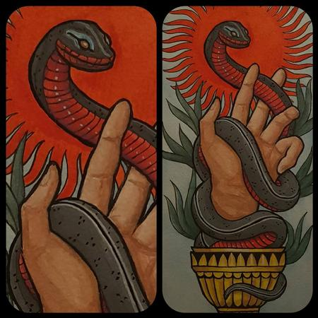 The snake and chalice Art Thumbnail