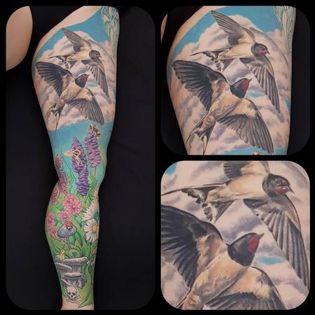 Tattoos - Nature Leg Sleeve - 134473