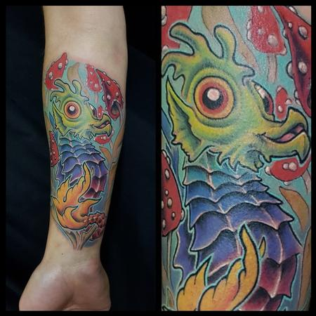 Tattoos - Psychedelic Seahorse - 139058