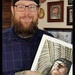Tattoos - Painting of owner at Studio 13 Tattoo - 134991
