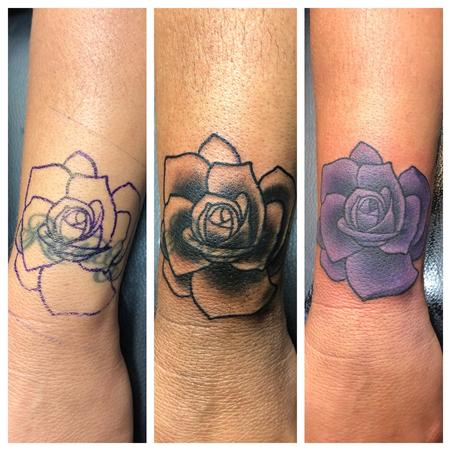 Rose Coverup Tattoo