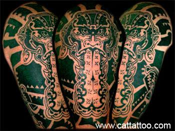 Tattoos - Tahitian Mask - 18810