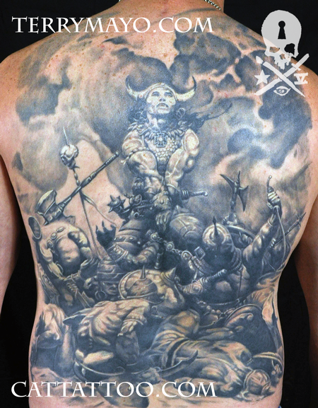 Tattoos - Conan by Frazetta - 93691