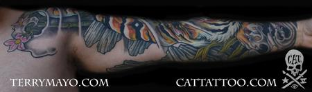 Tattoos - tiger sleeve 06 - 62471