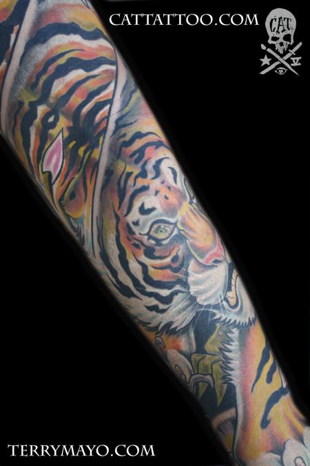 Tattoos - tiger sleeve 08 - 62469