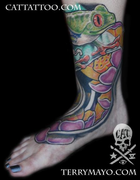 Tattoos - tree frog 03 - 62480