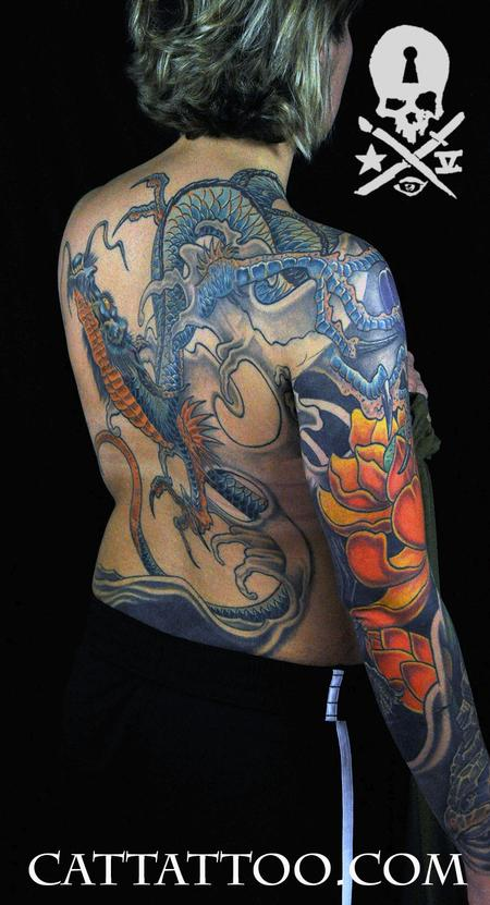 Tattoos - Blue Dragon - 115178