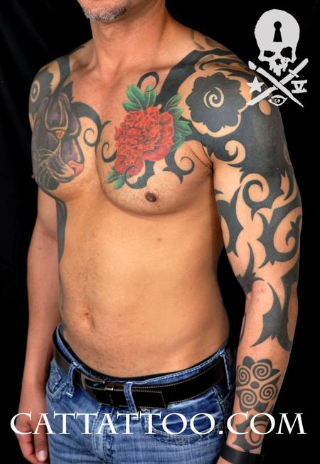 Tattoos - Owl Skull Neo Borneo - 115192