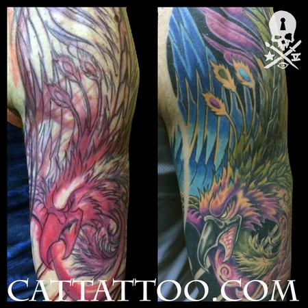 Tattoos - Japanese Phoenix Sleeve - 115185