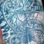 Prints-For-Sale - Ship Kraken Sundial Compass Sleeve - 115220