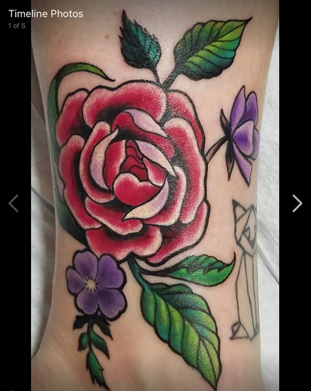 Tattoos - Neotraditional Rose  - 129487