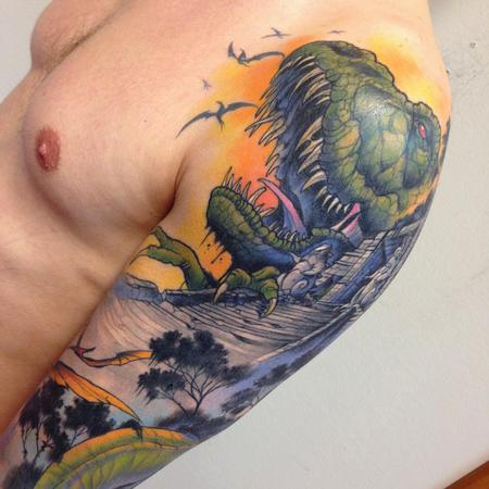 Tattoos - dinosaurs detail - 99314