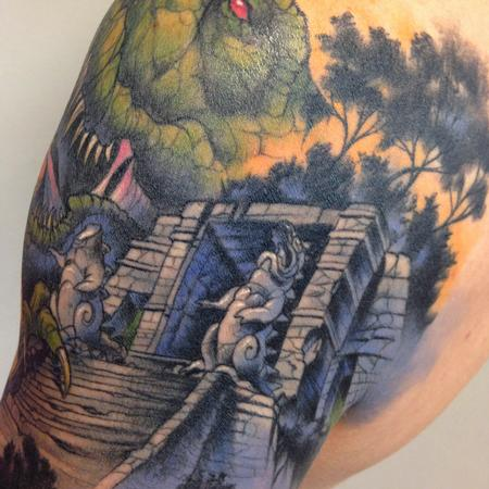 Tattoos - dinosaurs detail - 99313