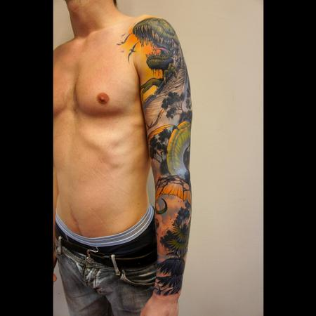 Tattoos - dinosaurs sleeve - 99324